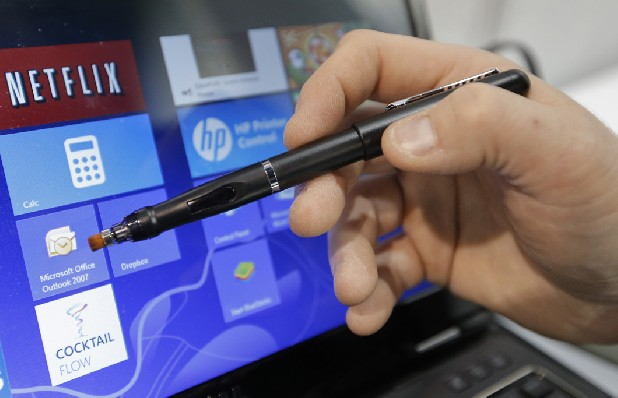 E Fun's Apen Touch8 pen is shown at the International Consumer Electronics Show in Las Vegas.