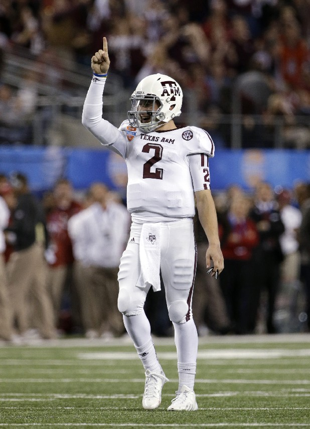 Texas A&M's Johnny Manziel (2) makes a national title his next career goal.
