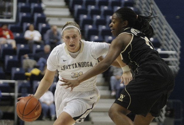 UTC forward Taylor Hall plays a crucial role when the Lady Mocs switch to smaller lineup, moving to the post as part of a quicker unit.