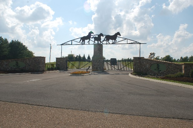 The Thunder Ridge subdivision entrance gate is located in Marion County, Tenn., but Franklin County, Tenn., contends that the lots in the gated community are located on their side of the county line. The two counties have reached a deal to solve the property dispute.