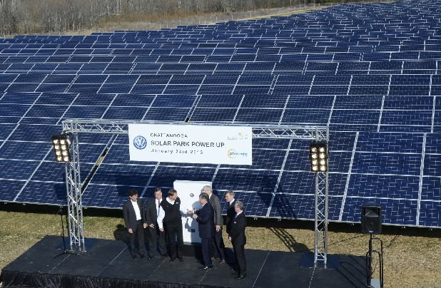 Volkswagen recently unveiled a new solar park.