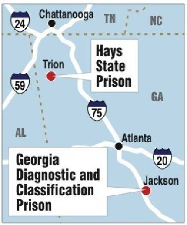 Map Of Georgia Prisons.Hays State Prison Inmate Killed In Transfer Prisoner Is Fourth In 2