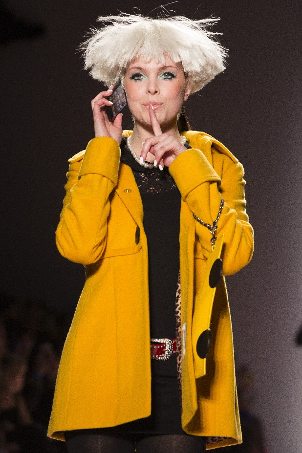 The Betsey Johnson Fall 2013 collection is modeled during Fashion Week in New York, Monday, Feb. 11, 2013.