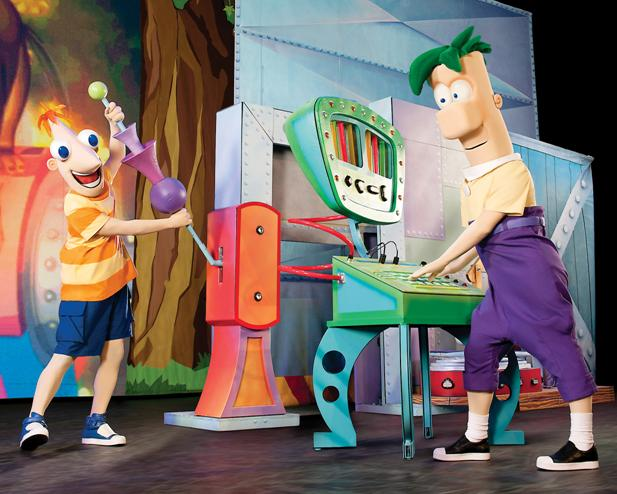 Phineas and Ferb with the Idea Mash-Up Machine.
