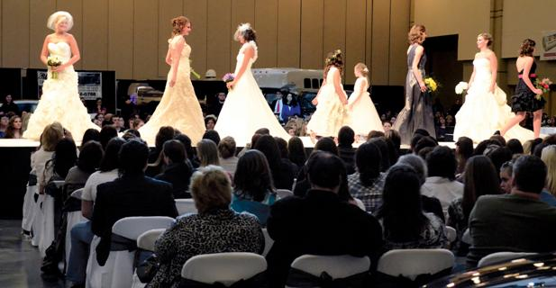 Models walk the runway during a 2012 bridal fashion show at the Formal Affair event sponsored by the Chattanooga Times Free Press at the Chattanooga Convention Center.