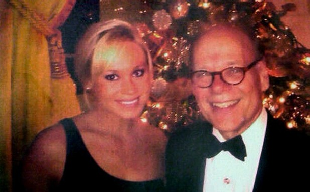 Steve Cohen and his daughter, Victoria, at a White House Christmas party.