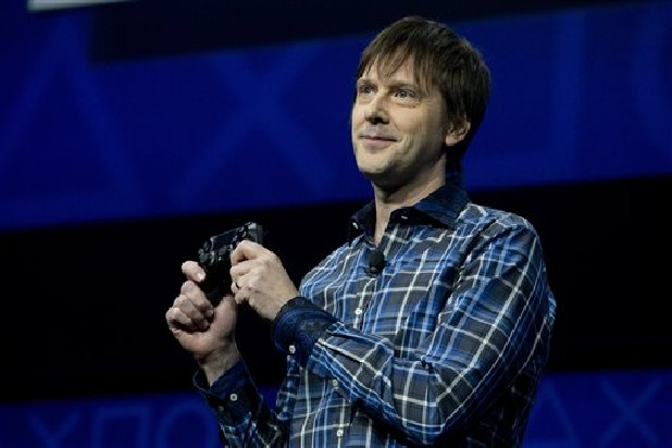 Mark Cerny, lead system architect for the Sony Playstation 4 speaks during an event to announce the new video game console in New York.