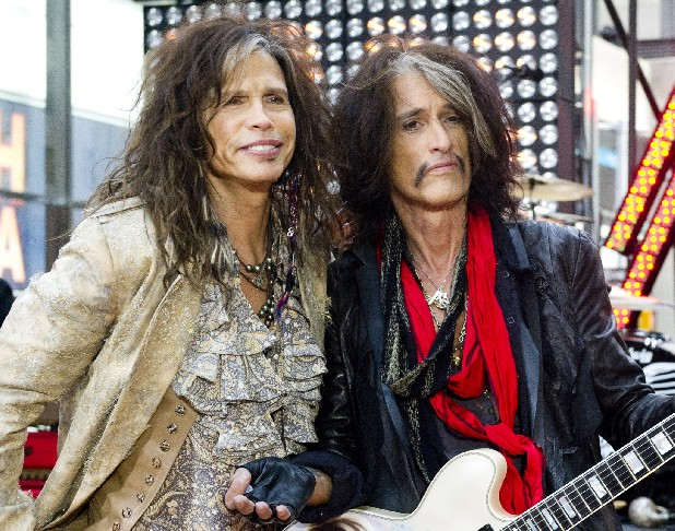 "This Nov. 2, 2012 file photo shows Steven Tyler, left, and Joe Perry of Aerosmith on NBC's ""Today"" show in New York. Perry and Tyler of Aerosmith and Mick Jones and Lou Gramm of Foreigner will join the Songwriters Hall of Fame this year along with the writers of iconic rock hits ""Love Is a Battlefield"" and ""Heartache Tonight"" during a June 13 ceremony in New York.(Photo by Charles Sykes/Invision/AP, file)"