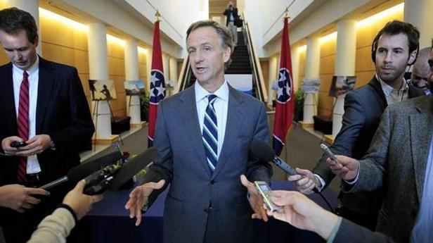 Governor Bill Haslam answers questions in this file photo.