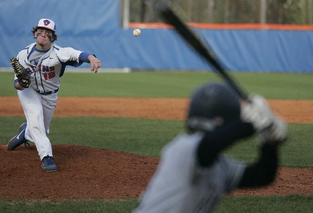 Northwest Whitfield's Seth Pierce (16) throws a pitch during the 3rd inning. Pierce threw nine strikeouts in a row.