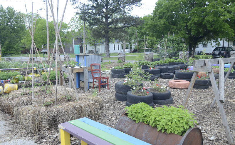 A community garden grows in Chattanooga at the corner of Watkins and ...