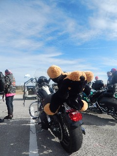 motorcycle event collects holiday gifts for children
