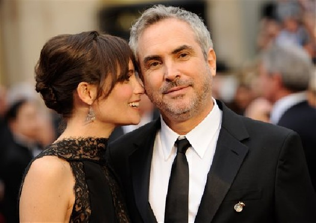 Alfonso Cuarón with beautiful, Wife Annalisa Bugliani