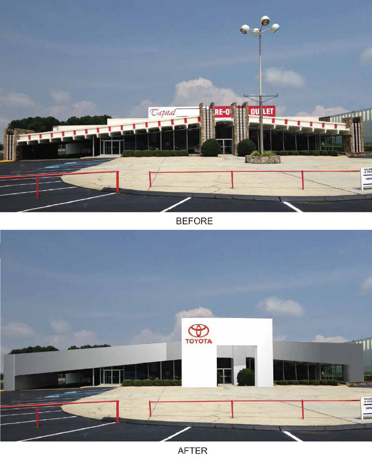 Capital Toyota Will Expand Across The Street To The Former Herb Adcox  Chevrolet Dealership, Renovating The Old Structure To Bring It Into Line  With Toyotau0027s ...