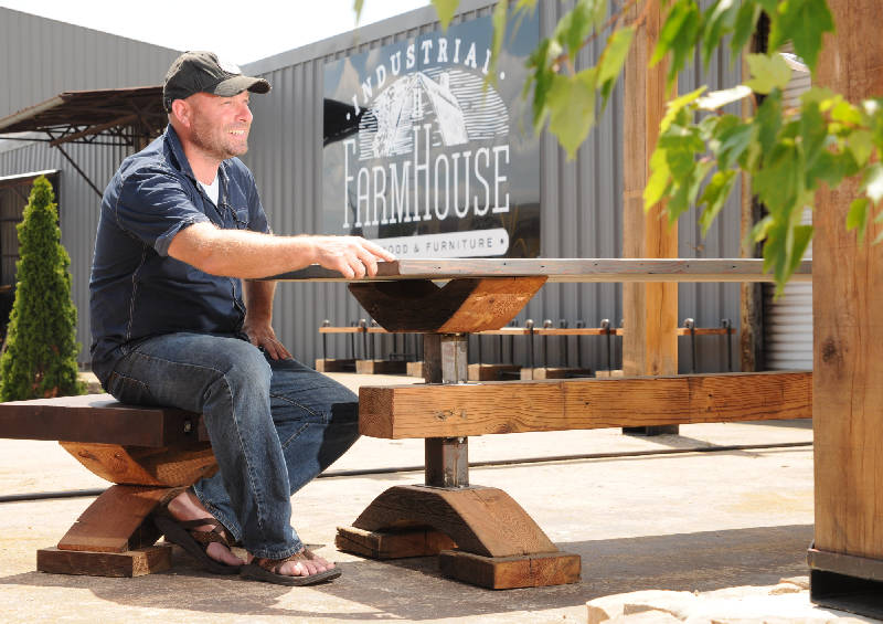Small Biz: The Industrial Farmhouse Brings Custom Furniture To Chattanooga