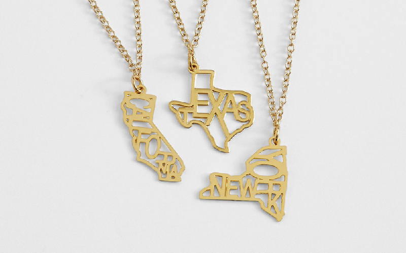 Gift ideas for hard to buy for teens times free press kris nations state pride necklaces from gifts help teens express themselves and show pride in their background aloadofball Images