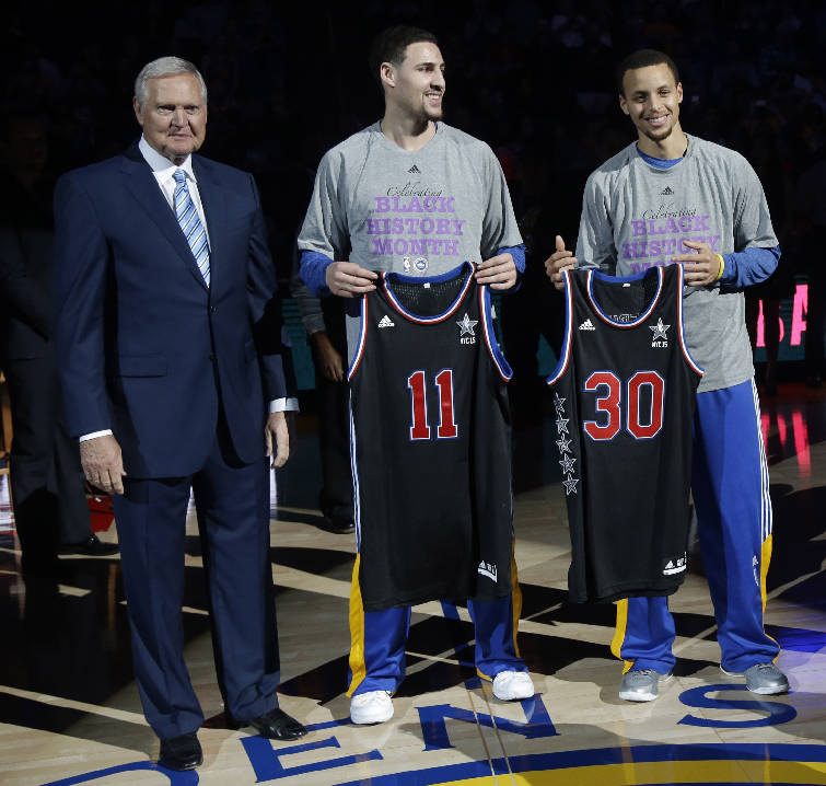 5 at 10 weekend winners and losers braves expectations rushmore 4 2015 file photo golden state warriors executive jerry west left presents all star jerseys to guards klay thompson 11 and stephen curry 30 before altavistaventures Gallery