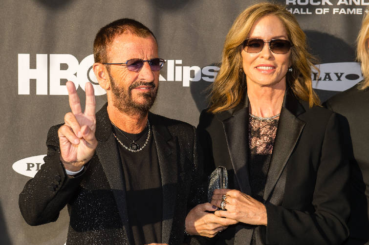 Ringo Starr And Barbara Bockman On The Red Carpet Prior To 2015 Rock Roll Hall Of Fame Induction Ceremony At Public Saturday April 18