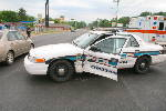 Police cruiser damaged in Browns Ferry Road crash