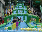 Video, photos: Chattanooga experiences its first-ever Slide the City