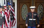 Mourners gather to pay respects to slain Georgia Marine