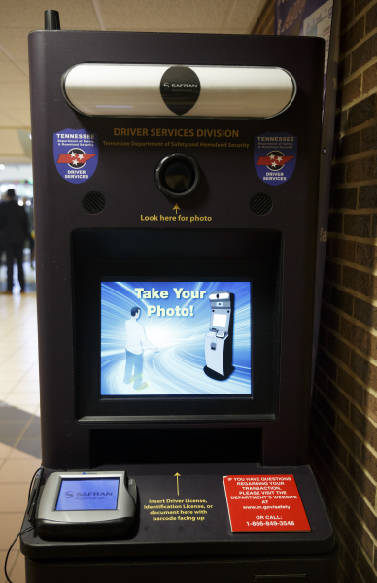 drivers license kiosk knoxville tn