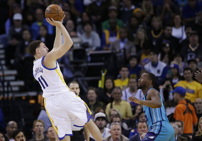 5 at 10 gop convention heats up espn moves klay thompsons big golden state warriors klay thompson 11 shoot over charlotte hornets kemba walker during the first half of an nba basketball game monday jan altavistaventures Gallery
