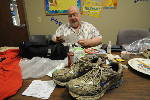 Church celebrates life of Brother Fender with annual shoe collection