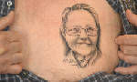 Alabama man gets tattoo of 77-year-old wife just above his heart