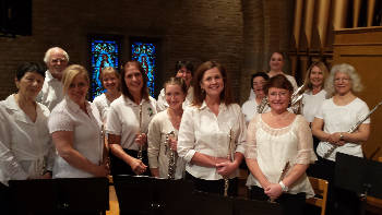 Three flute choirs combine for St  Patrick's Day themed concert