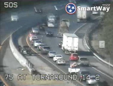 Crash on I-75 north between Ooltewah and Cleveland stalls