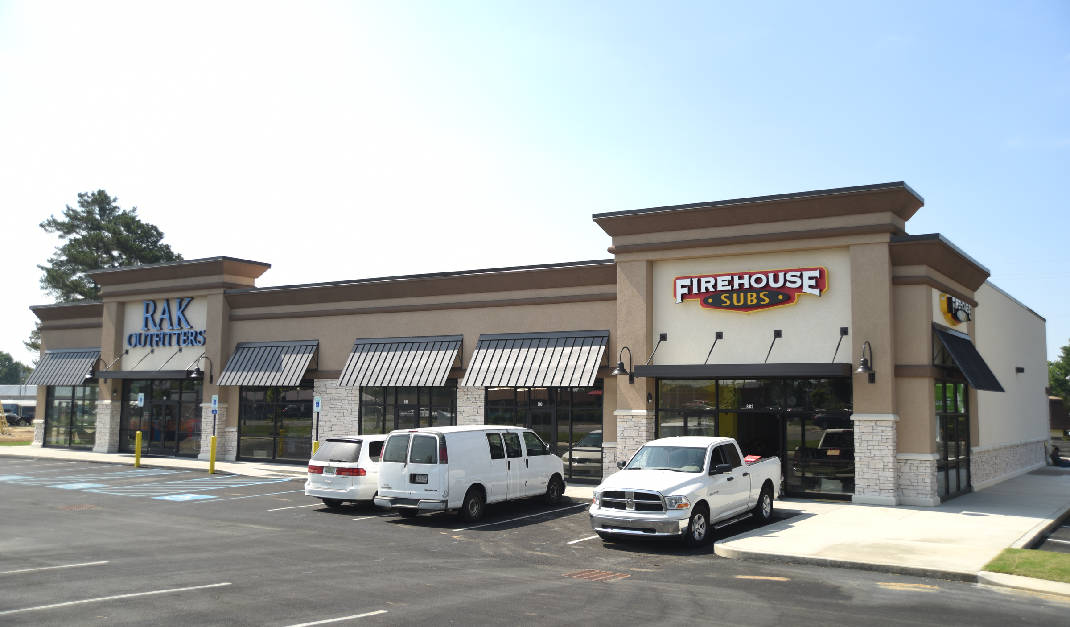 Under Construction New Strip Mall Includes Firehouse Subs