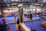 Legally blind, local 10-year-old gymnast sets sights on Olympics