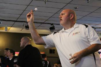 Top male dart player in the U S  is a local, and he headlines this