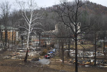 Emergency management officials warn of Sevier County fire