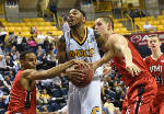 QJ Peterson's big night leads VMI to huge upset over Mocs [photos]