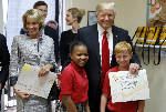 Trump tours private school in Florida, promoting choice
