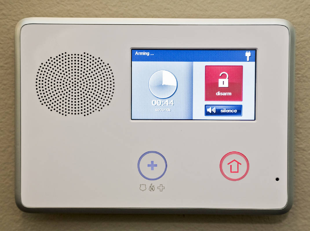Safe secure and smartphone home security with all the bells home security systems have come a long way the home of sam carasquillo cq has a wireless touchscreen control panel thats counting down to arming the solutioingenieria Gallery