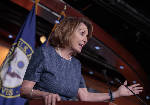 The Latest: Pelosi pokes fun at White House bowling outings