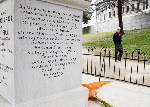 Plan to dig up President Polk's body, again, stirs trouble