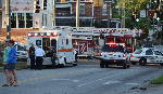 Pedestrian hit by vehicle at intersection of McCallie and Central avenues