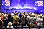 Mike Huckabee leads patriotic service at Abba's House [photos]