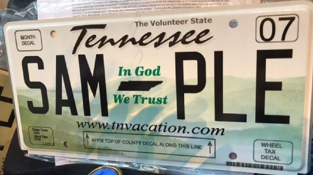 Clerk\'s office issues 685 \'In God We Trust\' license plates to ...