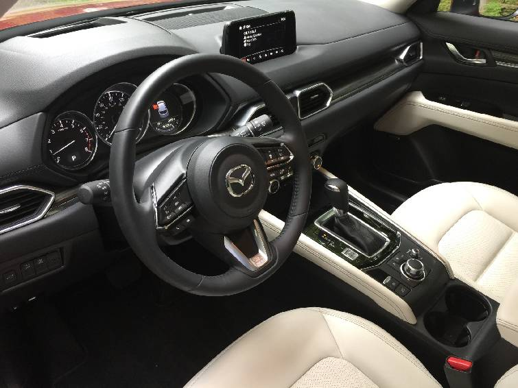 The Interior Of The Mazda CX 5 Features A Near Luxury Level Of Quality.