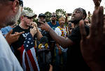 Hundreds attend rally in Coolidge Park; passionate, peaceful debate ensues [video, photos]
