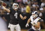 Carr, Goff shine in Rams 24-21 exhibition win over Raiders