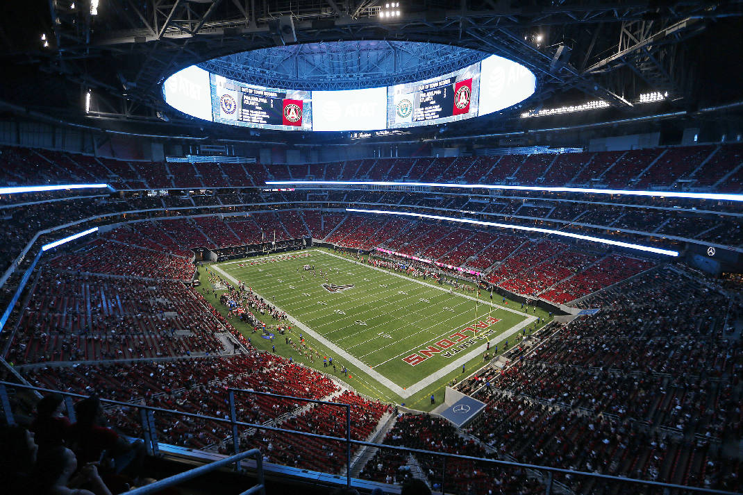 The $1.6 Billion Mercedes Benz Stadium Will Host Its First College Football  Contest Saturday Night When No. 1 Alabama Faces No. 3 Florida State In The  ...