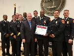 Chattanooga firefighters recognized with 'Governor's Certificate' for Woodmore response