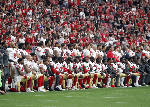 Protests muted week after NFL responds to Trump criticism