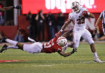 Taylor runs for 249 in No. 9 Badgers' 38-17 win over Huskers